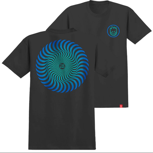 Spitfire - Swirl Fade Youth Black t-Shirt