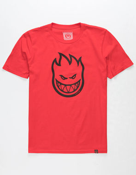 Spitfire - S/S Big Head Red/Black Youth T-Shirt