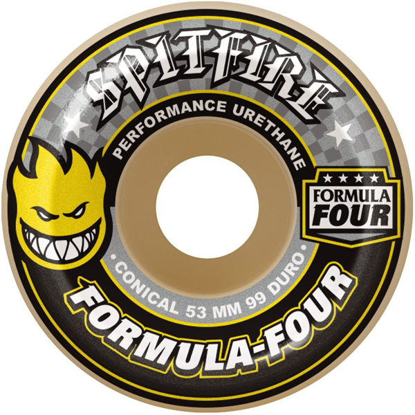 Spitfire - Formula Four Conical 99 Duro Yellow Print