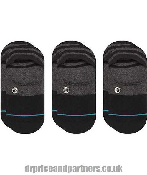 Stance - Gamut 3 Pack Black No Show Socks