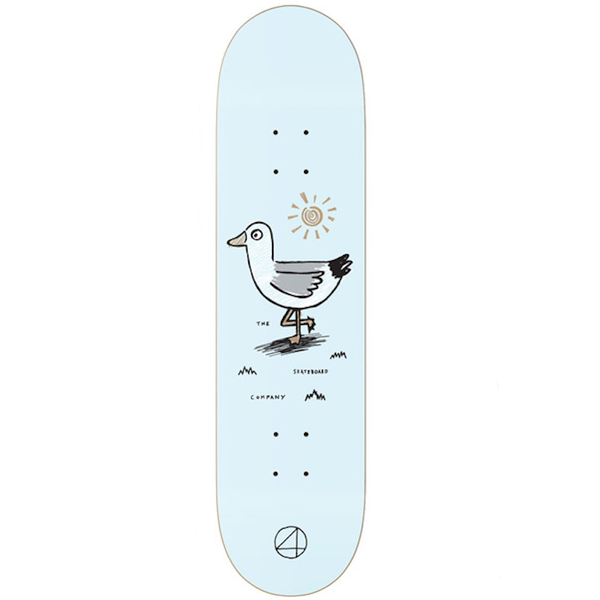"The 4 Skate Company - Gull Blue 7.75"" Deck"