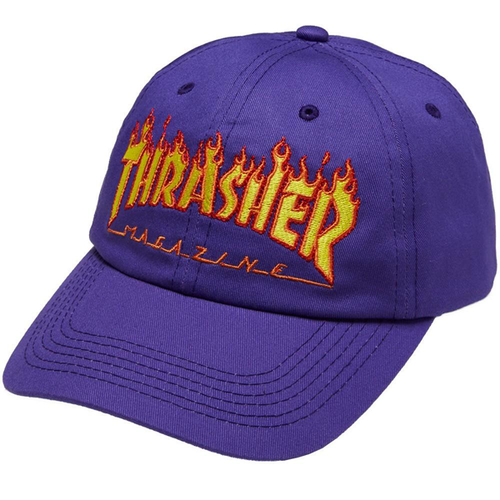 Thrasher - Flame Old Timer Hat Purple