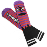 Toy Machine - Sect Eye Stripe Socks Purple Orange Black