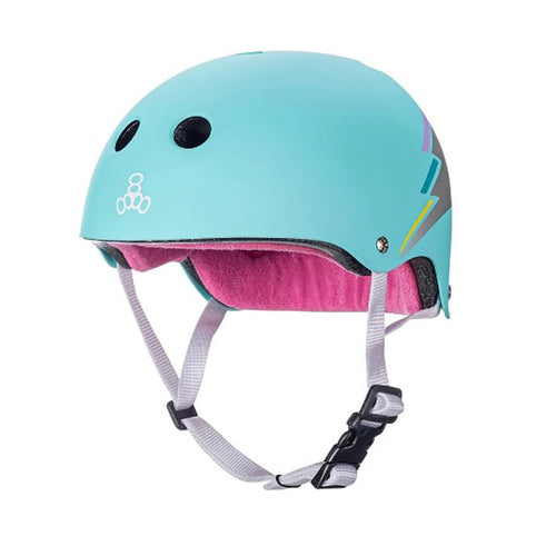 Triple 8 - Certified Helmets SS Teal Hologram