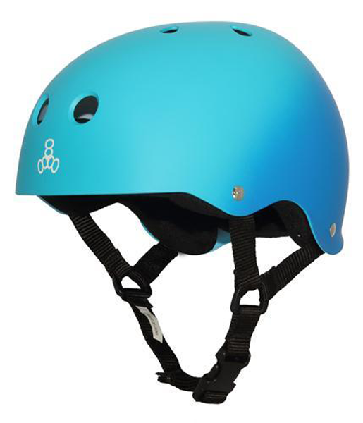Triple 8 - Brainsaver Blue Fade Rubber Helmet
