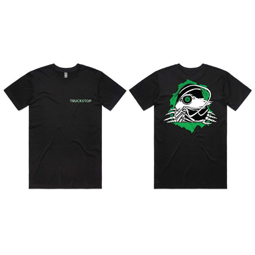 Truckstop Sk8 - Green Prawn Ripper Tee (T-Shirt) Black