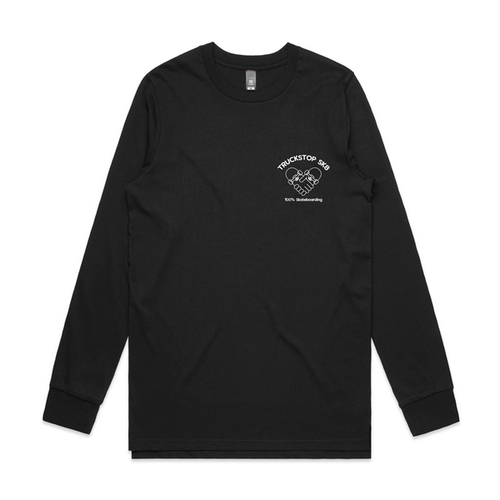 Truckstop Sk8 - Long Sleeve Handshake Tee (T-Shirt) Black