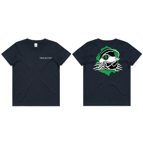 Truckstop Sk8 - Green Prawn Ripper Tee (T-Shirt) Navy