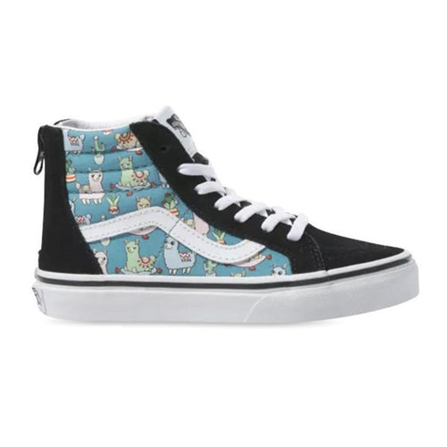 Vans - Sk8 Hi Zip Llamas Delphinium Youth Shoes