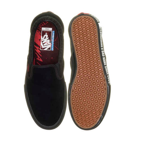 Vans - Baker Collab Slip On Pro Black/Black/Red