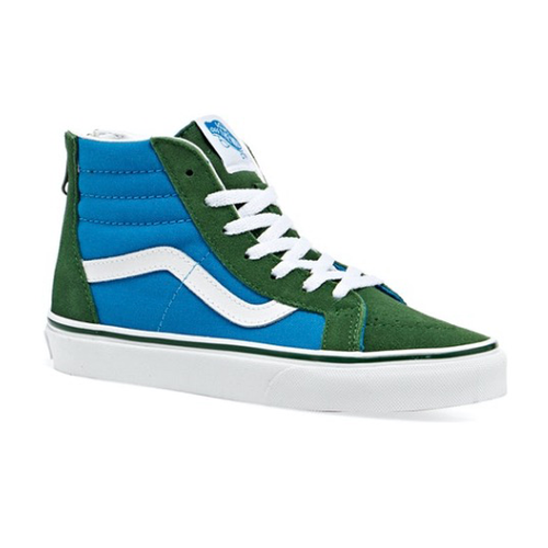 Vans - Sk8 Hi Zip 2 Tone Blue/Green Youth