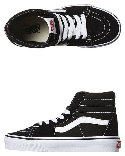 Vans - Kids Sk8 Hi Black/True White