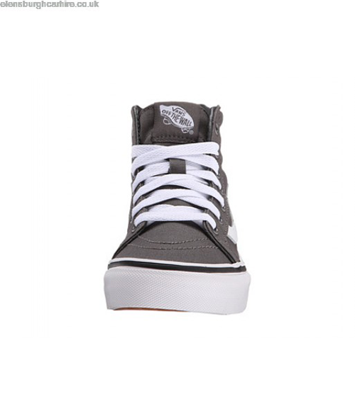 Vans - Kids Sk8 Hi Zip Pewter/True White