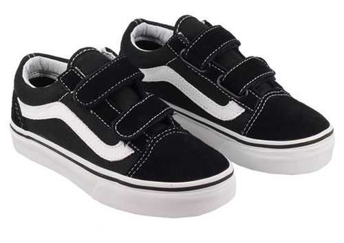 Vans - Kids Old Skool Velcro Black/White