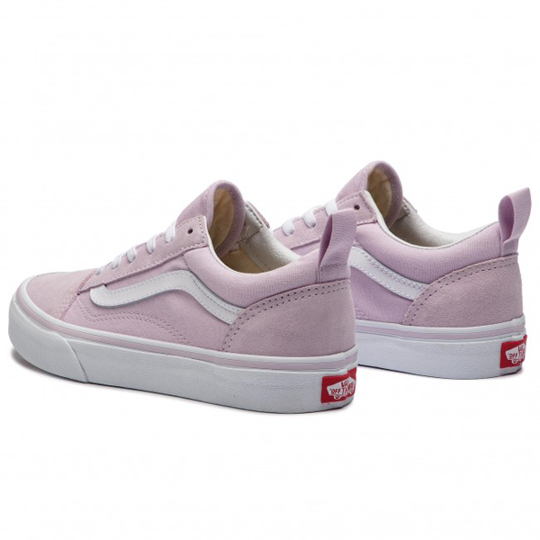 Vans - Old Skool Kids Elastic Lace Lavender Fog/True White