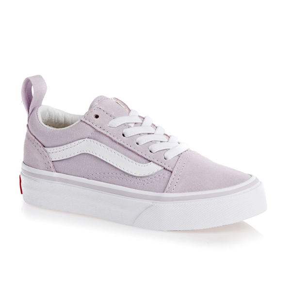 9d6f73ca359cf0 Vans - Old Skool Kids Elastic Lace Lavender Fog True White ...