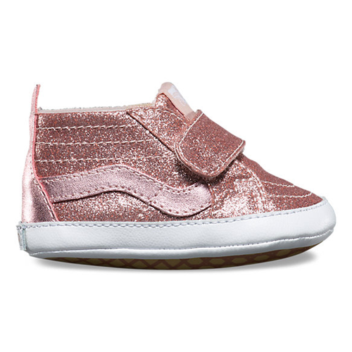 Vans - Sk8-Hi Crib Glitter Metallic Blush Shoes