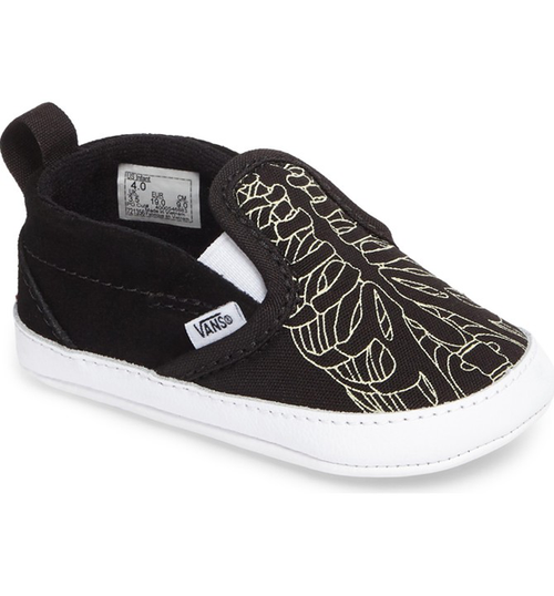 Vans - Slip On V Crib Skeleton Glow/Black Shoes