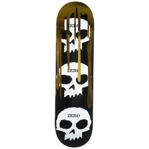 "Zero Skateboards - Skull Blood Black/White/Gold R7 8.0"" Deck"