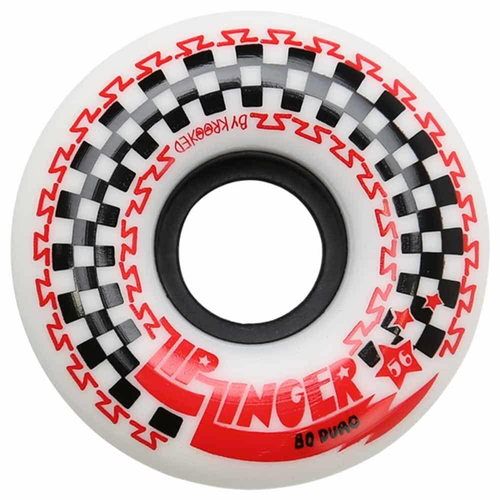 Krooked - Zip Zinger Wheels - 80D White 56mm