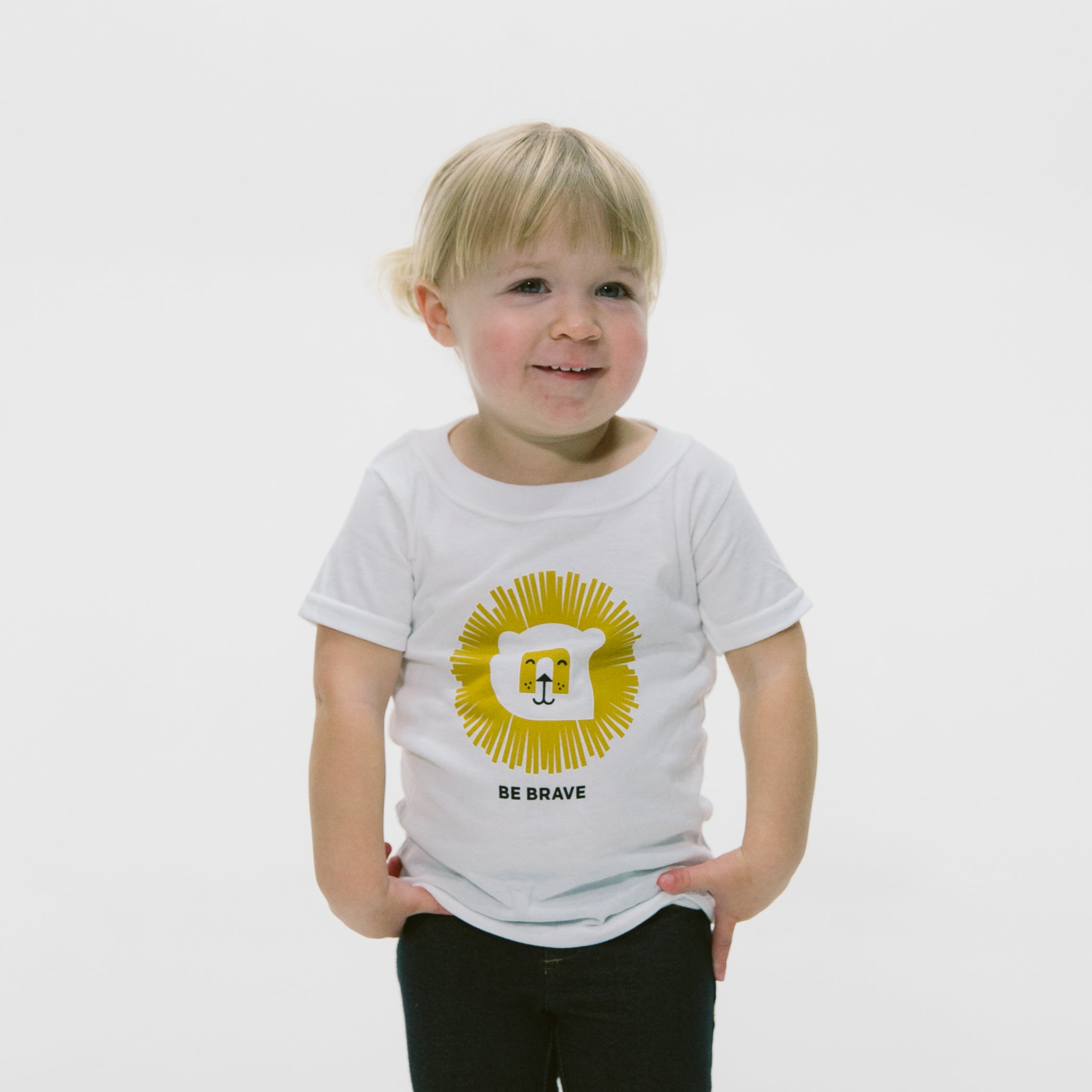Be Brave Lion Kid Tee