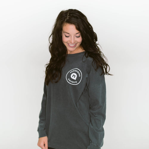 Gray Comfort Color Long Sleeve Shirt