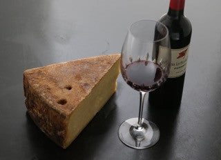 Alpine cheese is great with wine tasting