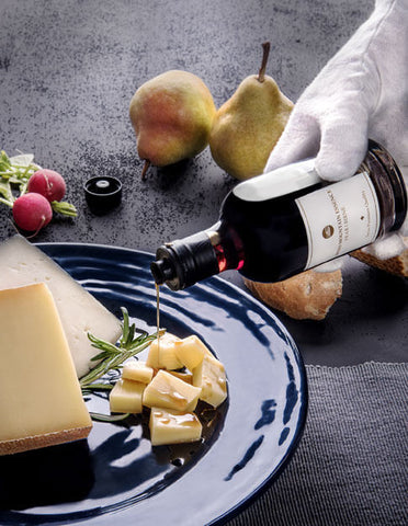 Pear balsamico is a perfect combination with alpine cheese