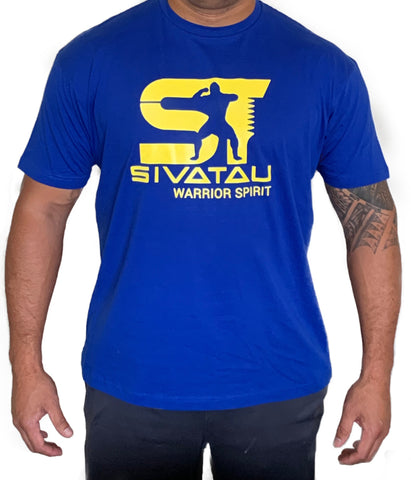 Royal Blue with Yellow Sivatau logo.