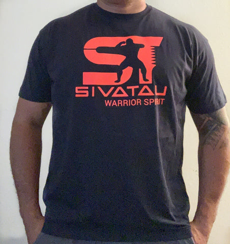 Navy Blue/Warm Red Sivatau T-Shirt