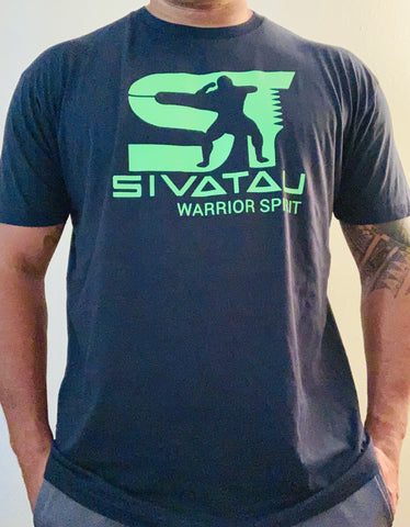 Navy Blue/Neon green Sivatau T-Shirt