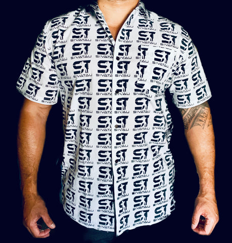SIVATAU Traditional Shirt, Black on white