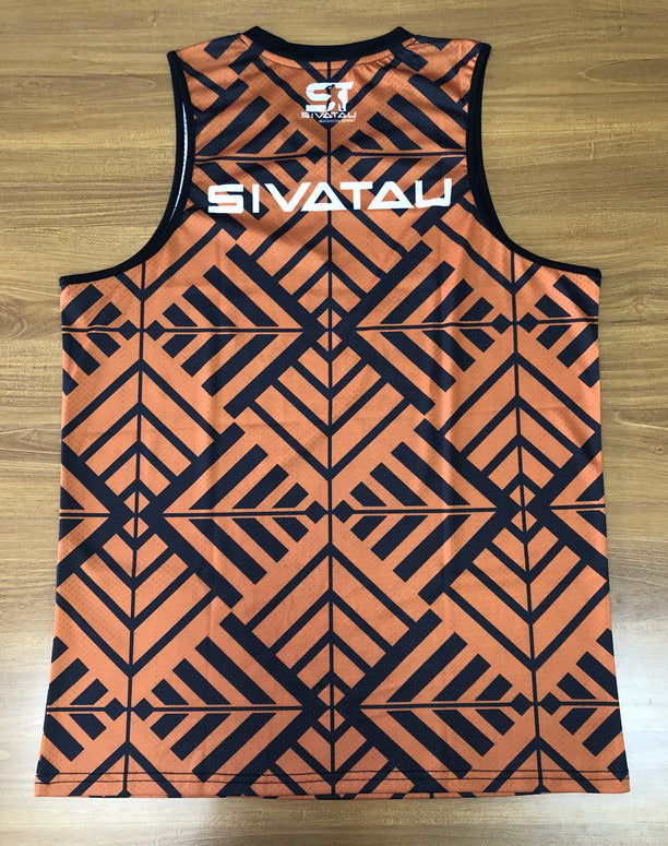 Brown Sivatau vneck tank top.