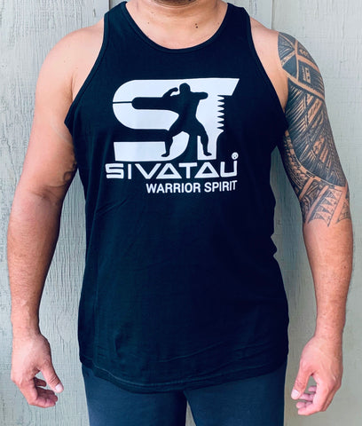 SIVATAU white on black tank top