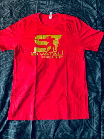 SIVATAU Red with a gold color logo.