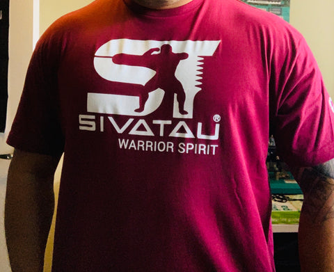 Maroon with white Sivatau logo