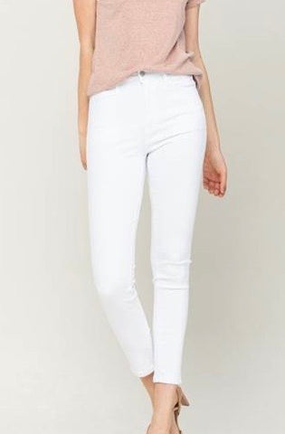 BIY High Rise Skinny Jeans, White