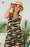 Sleeveless Camo Romper