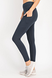 Navy Butter Leggings with Side Pockets