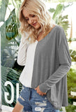 Half Blocked Trendy Tunic Top