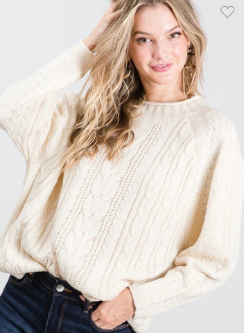 Over Sized Ivory Sweater