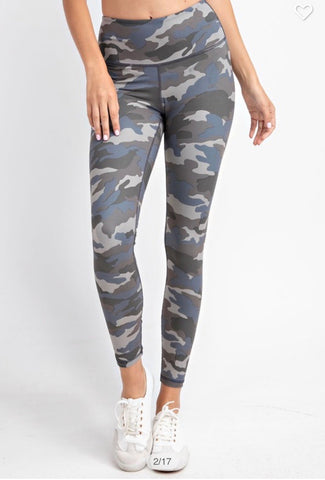 Grey/Blue Camo Leggings