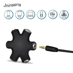 3.5mm Hexagon Shape Earphone Adapter Male To Female Audio Output Share Distributor Headphone Splitter Extension Line Splitter