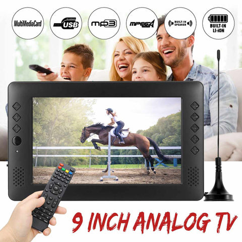12V 9 inch HD Portable Mini WiFi Digital and Analog TV DVB-T2 DVB-T DTV ATV Car Smart Television Support USB TF Card MP4