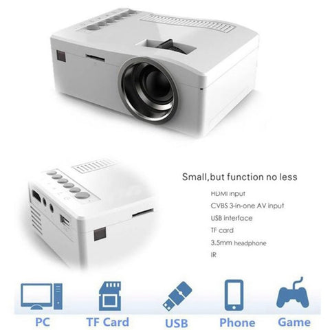 T16 Home Theater Mini Projector Portable Projection Part HD Display For Home Movie Time Parties Sports Events TV Series