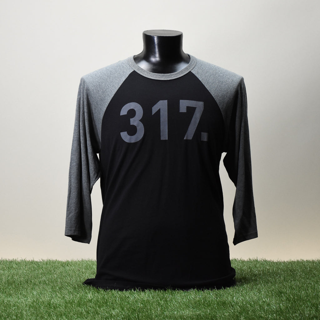 BASEBALL TEE SHIRT - 317 - BLACK