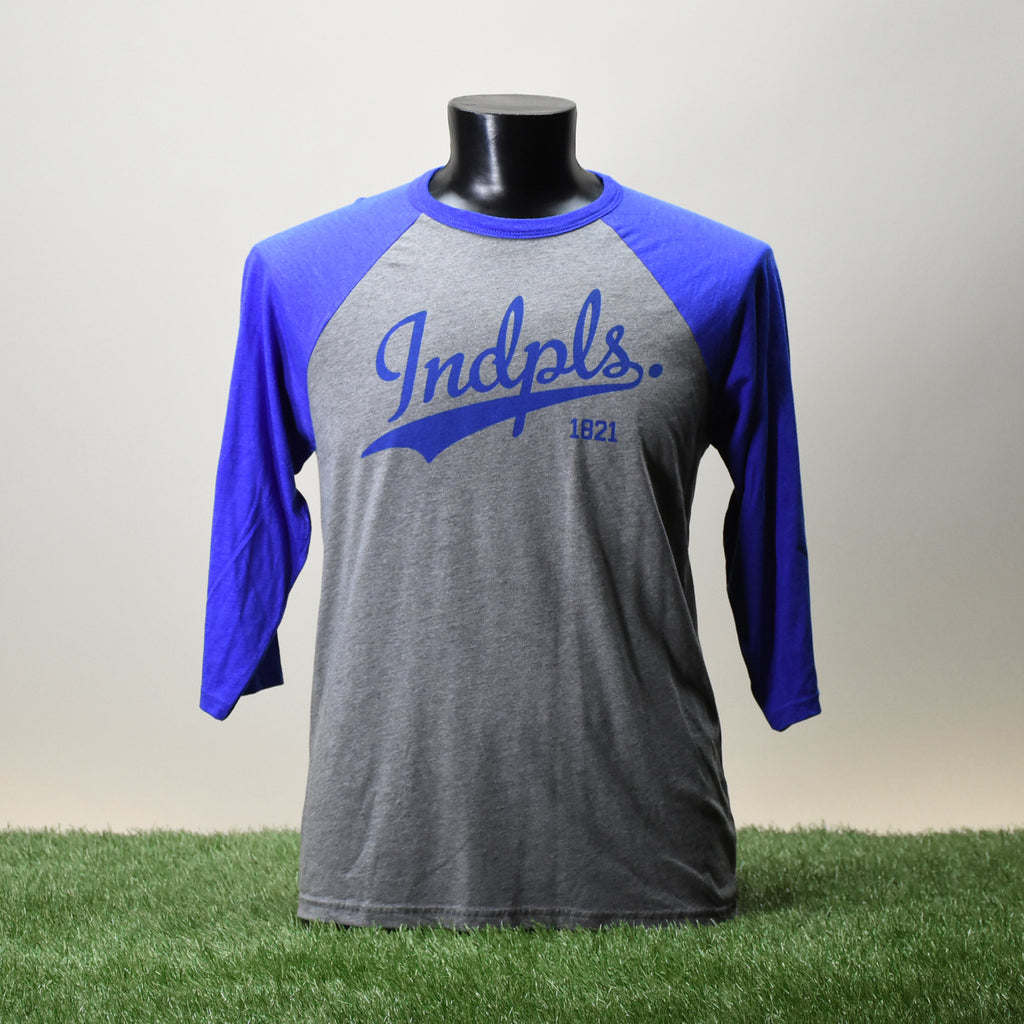 BASEBALL TEE SHIRT - INDPLS - ROYAL BLUE