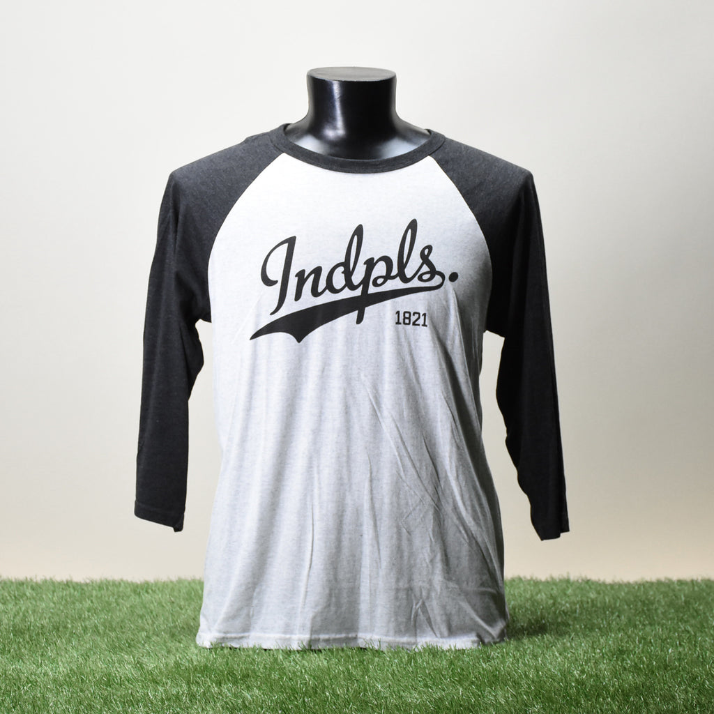 BASEBALL TEE SHIRT - INDPLS - FLECKED WHITE