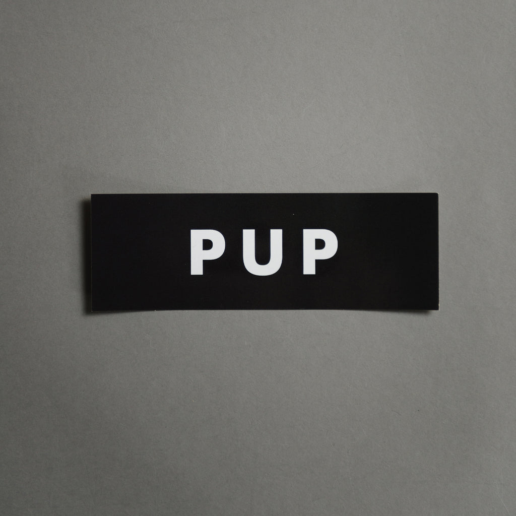 PUP STICKER