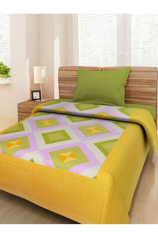 Cotton Abstract BedSheet With Out Pillow Covers - Jungleecart.com